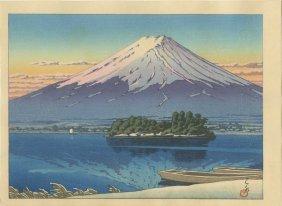Hasui Kawase - Lake Kawaguchi And Mount Fuji 1946