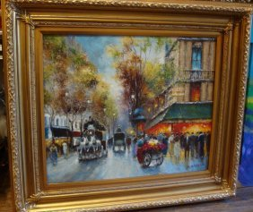 Rare Auth Lrg Org Oil Painting Jacques Gaston