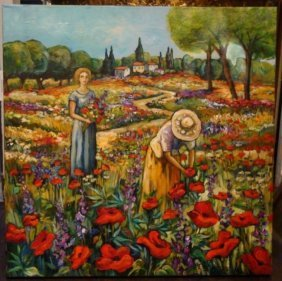 Beautiful Rare French Provence Painting, Betty Wittwe!!