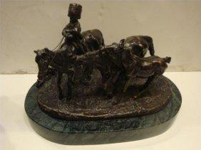 19th Century Bronze Of A Boy Riding Evgeni Lanceray