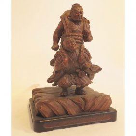 Japanese Carving Of Folklore Figure