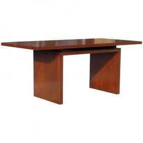 Modernist Mahogany Dovetailed Desk