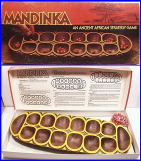 Vintage 1978 Mandinka Ancient African Strategy Game By