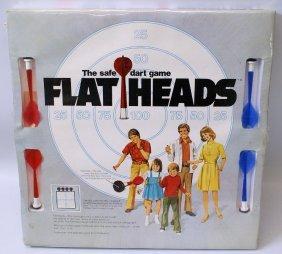 Vintage 1975 Flatheads The Safe Dart Board Game Set,