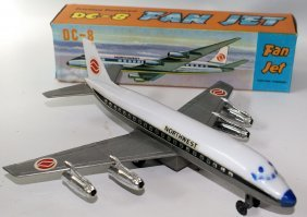 Vintage Friction Powered Plastic Northwest Airlines
