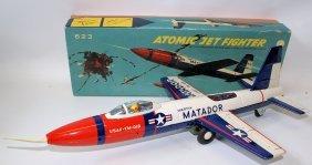 Vintage Tin Litho Friction Martin Matador Atomic