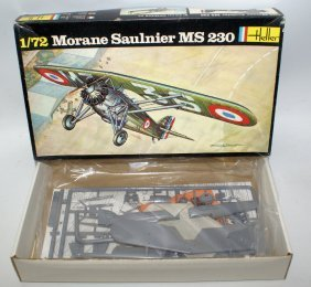 Vintage Heller 1:72 Scale Morane Saulnier Ms 230