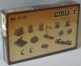 Vintage Ho Scale Faller B-141 Model Rail Yard Work Site