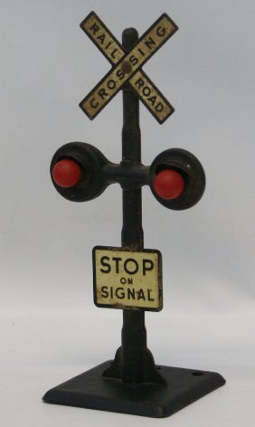 Vintage Marx O Gauge Train Metal Railroad Crossing