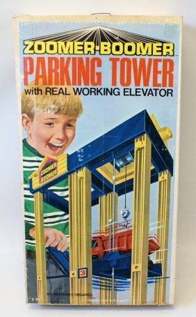 Vintage 1971 Zoomer-boomer Parking Tower Playset