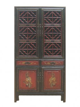 Cao Zhou Antique Red Gold Opera Painting Kitchen