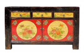 Mongolian Style Full Moon & Floral Motif Buffet Table /