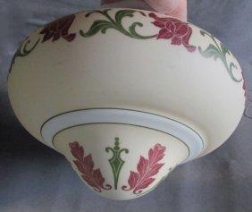 C1900 Art Nouveau Lamp Shade Chandelier Hanging Lamp