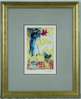 "Chagall ""lovers And Daisies"" Giclee"