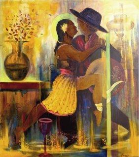 Gaucho-oil On Canvas Original Oropeza