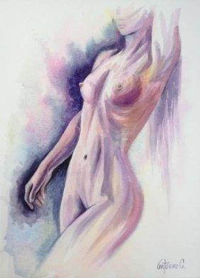Nude Woman-watercolor On Archival Paper Original