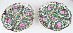 Two Vintage Porcelain Chargers