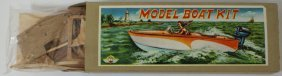Ito Japan Late 40's Early 50's Wooden Model Boat Kit,
