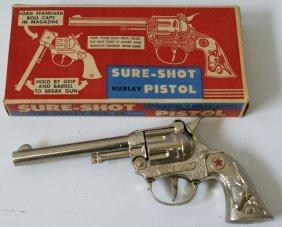 Vintage #230 Hubley Sure-shot Cap Pistol Gun In
