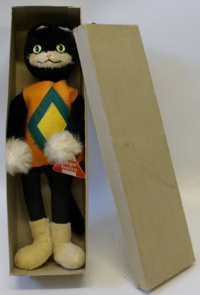 Schuco Bigo Bello 7365/40b Stuffed Mohair German Cat