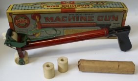 Vintage No. 100 Mac Machine Gun Toy Paper Pop Air Gun