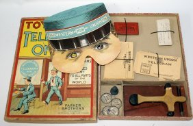 1911 Toy-town Telegraph Office Western Union Playset By