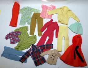 Vintage 14-piece Lot Of Clothes Outfits For Barbie And