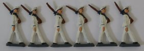 Lot Of 6 Us Navy Military Lead Hand Painted Toy