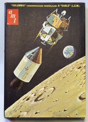 Vintage Amt 1:200 Apollo Spacecraft Columbia Module &