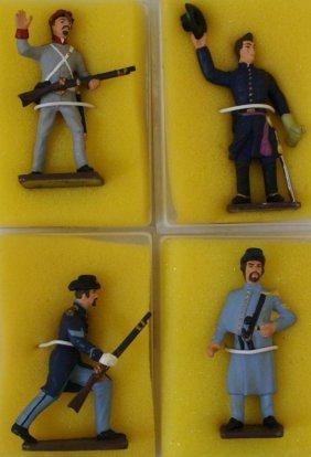 4 Reeves American Civil War Hand Painted Lead Toy