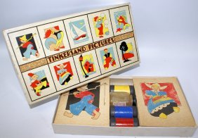 Vintage 1937 Tinkersand Pictures Boxed Set By The Toy