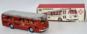 Vintage Friction Tin Kellerman Cko Bahnbus 441 Db