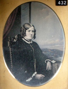 English Hand Tinted Daguerreotype Of A Lady
