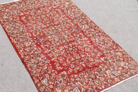 Fascinating Hand Woven Antique Persian Lavar Kerman,