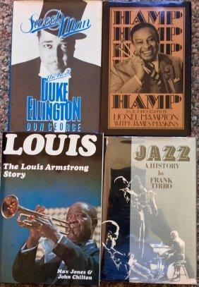 (4) Hc W/ Djs American Jazz Music Book Lot
