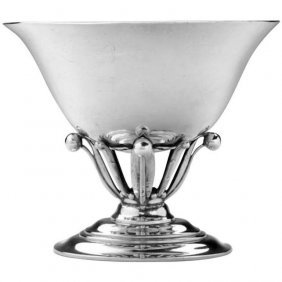Georg Jensen Sterling Silver Oval Footed Bowl #6