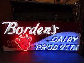"""""""elsie"""" Borden's Neon & Porcelain Enamel Sign"""