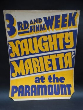 Naughty Marietta Extended Engagement Poster 1935