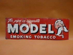 Model Smoking Tobacco Metal Sign