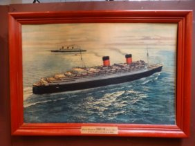 Cunard Line Queen Elizabeth And Queen Mary Poster