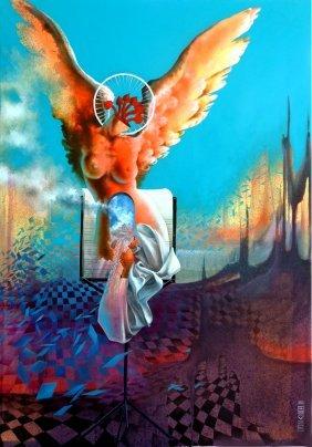 Erotic Angel - Acrylic On Canvas