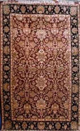 """Indian Rug Agra Hand Knotted 9'5"""" X 6'9"""""""