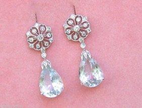 Antique Style .63ctw Diamond 8ctw Detachable Pear