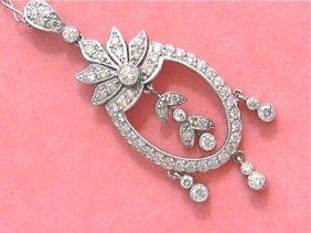 Estate Edwardian 1.30ct Brilliant Diamond Platinum