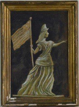 Lady Liberty Gouache Painting