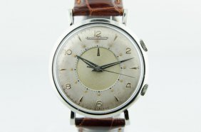 Rare Stainless Steel Jaeger Le'coultre Alarm Watch