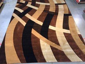 10x13 Oversize Carved Contemporary Design Area Rug