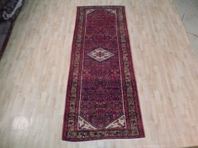 4x10 Persian Hamadan Runner Hand Knotted Original Rugs
