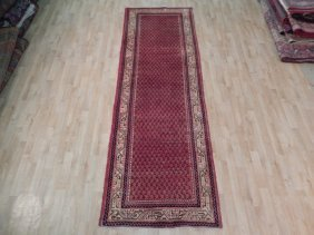 3x10 Persian Mir Runner Hand Knotted Semi-antique Rugs