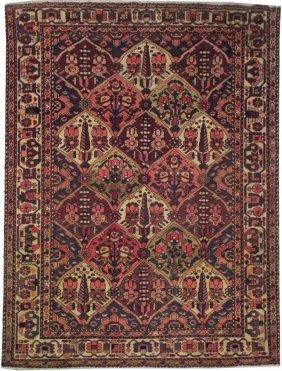 5x7 Persian Bakhtiari Rug Handmade Round Rugs